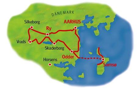 Karte Ost-Jütland