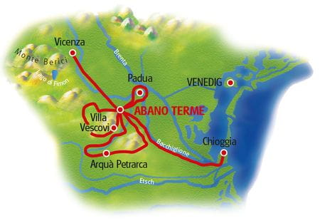 Map Abano Terme - based in one hotel
