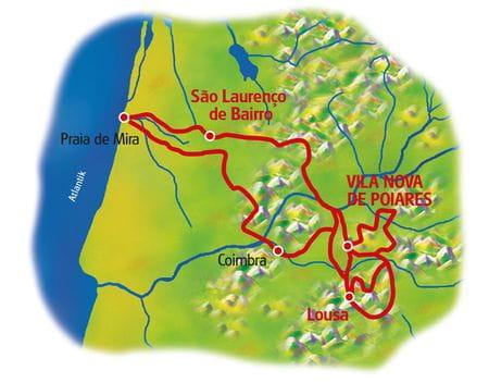 Karte Portugals Mitte