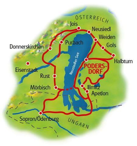 Karte Neusiedlersee Sternfahrt