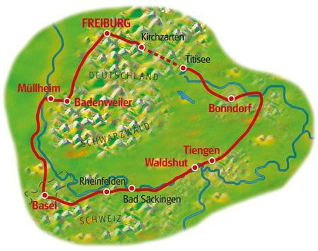 Map Southern Black Forrest