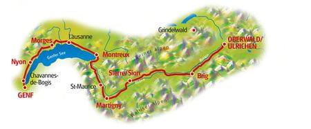 Karte Rhone Route