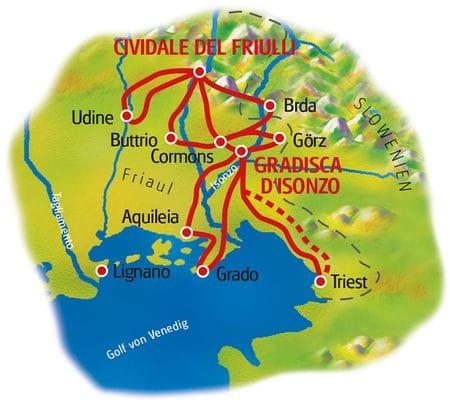 Friaul - Karte