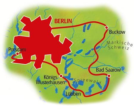 Berlin Umgebung - Karte