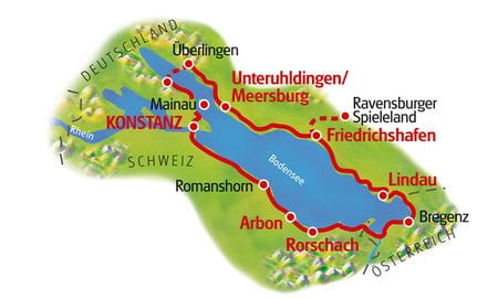 Lake Constance for Family, Map