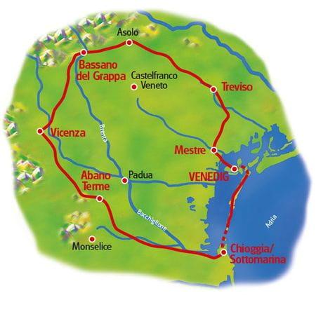 Map Venetien loop tour