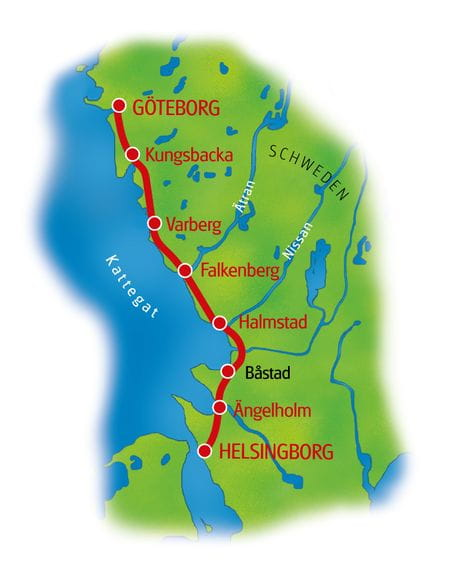 Map Kattegatt Route