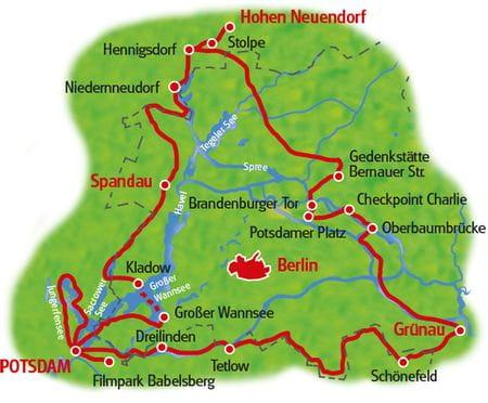 Mauer-Radweg - Karte