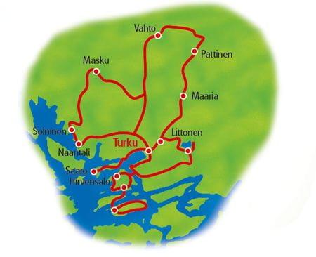 Karte Finnland Sternfahrt