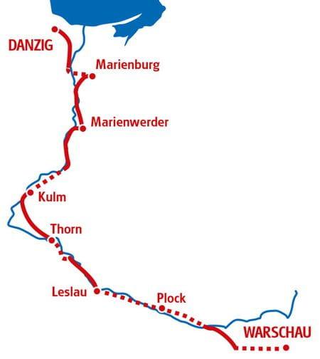 Warschau - Danzig - Karte