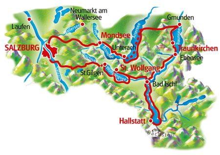 Karte die Seenrundfahrt mit Charme