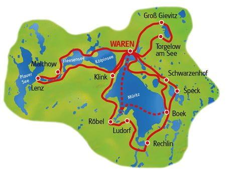 Karte Müritz Sternfahrt