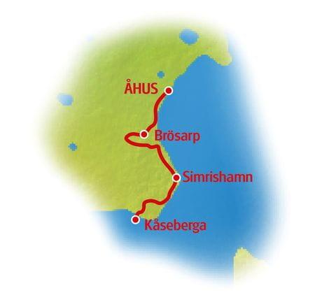 Südschweden - Karte