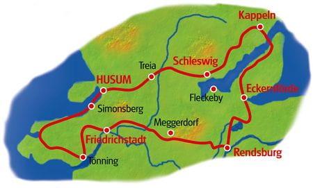 Karte Auf den Spuren der Wikinger