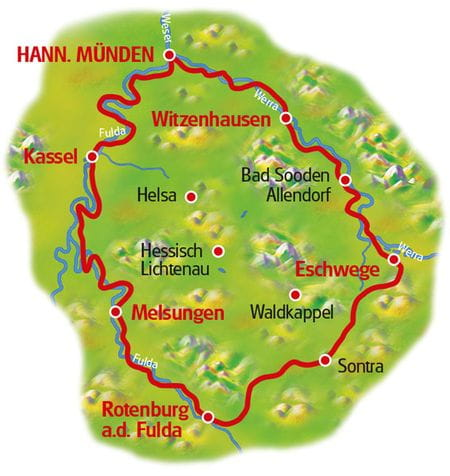 Map Werra and Fulda