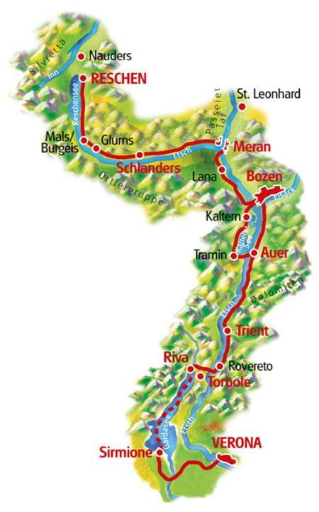 Karte Reschensee - Verona