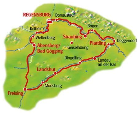 Map Bavarian Hops Tour