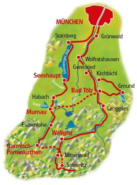 Map Munich Lakes