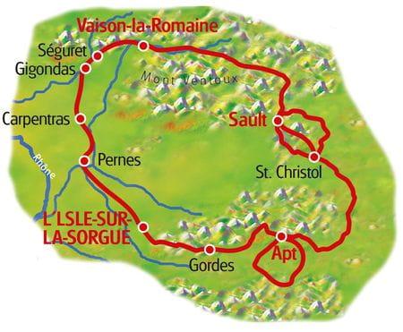 Provence - Karte