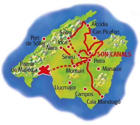 Map Majorca Bike & Finca
