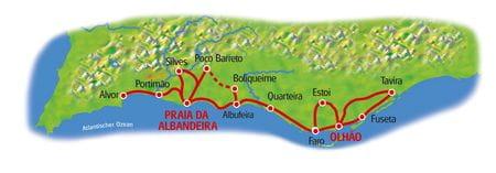 Map Algarve