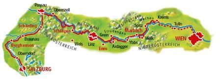 Map Salzburg - Vienna
