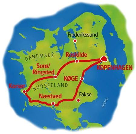 Map Zealand Loop Tour
