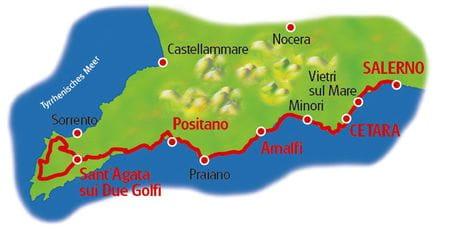 Karte Amalfiküste