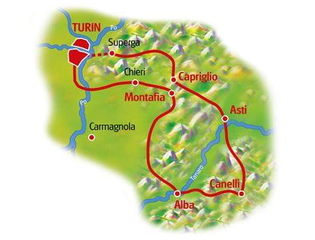 Map Piedmont Gourmet