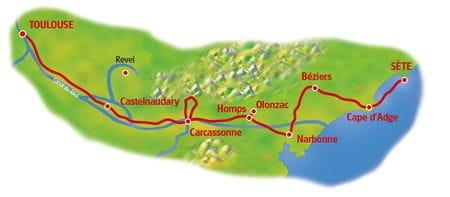 Map Canal du Midi