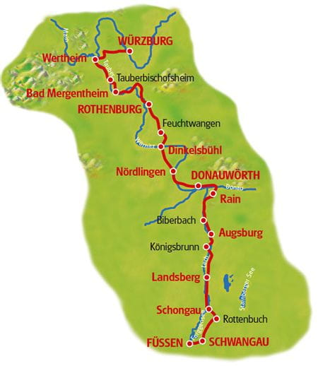 Map Romantic Road