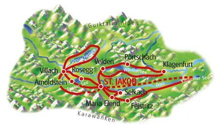 Kärntner Seen - Karte