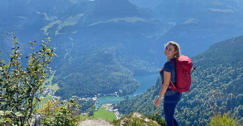 Wanderin in den Berchtesgadener Alpen