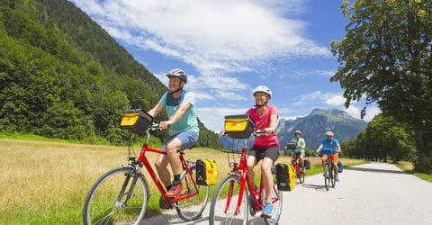 Cycle path in the Salzkammergut