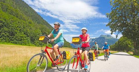 Radfahrer im Salzkammergut
