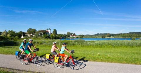 Radfahrer im Chiemgau