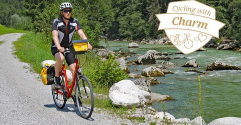 Cyclist on the Tauern Cycle Path