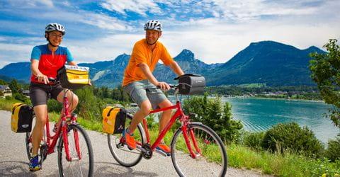 Radfahrer am Wolfgangsee