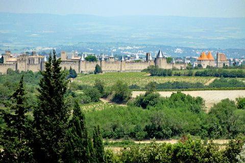 Ausblick Carcasonne Stadt