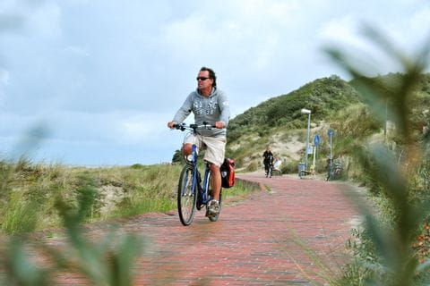 Cyclists on the Wadden Island