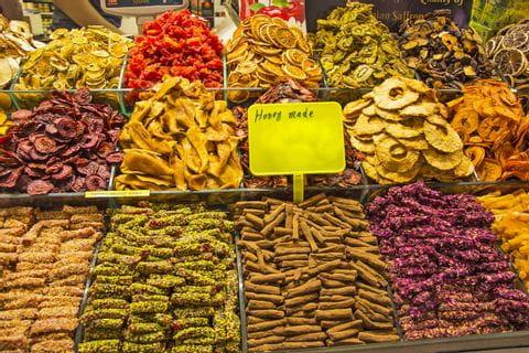 Trockenfrüchte für einen Müsliriegel
