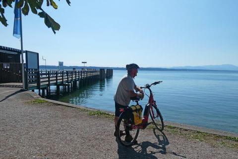 Radlerpause am Starnberger See