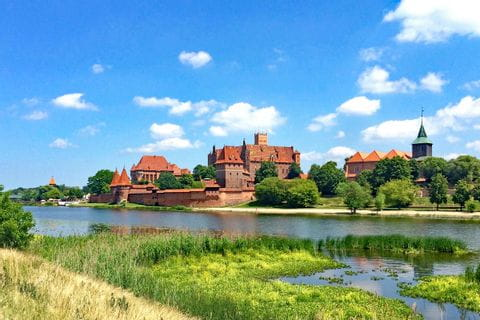 Marienburg am Fluss Nogat