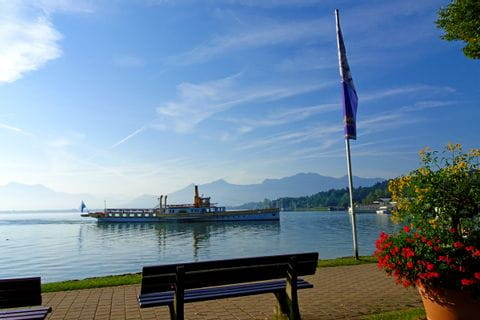 Lakeside promenade in Prien