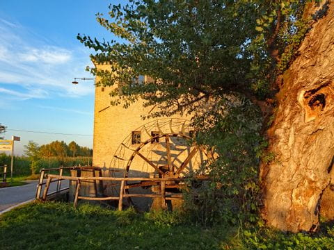 Mill at sunset in Veneto