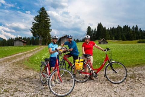 Biker reading their maps