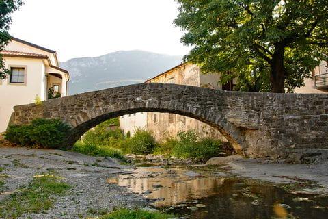 Old stone bridge in Slovenia