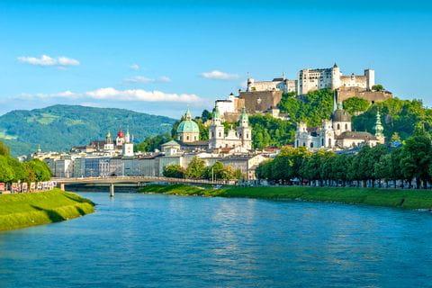Salzburger Altstadt mit Festung Hohensalzburg
