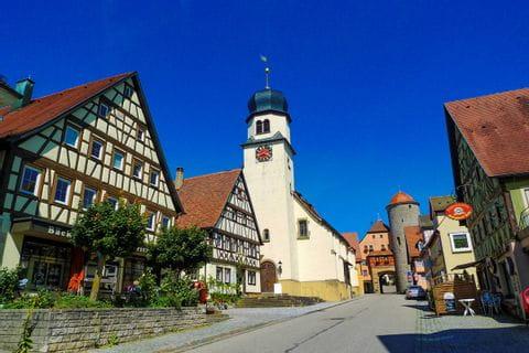 Ortseinfahrt nach Langenburg
