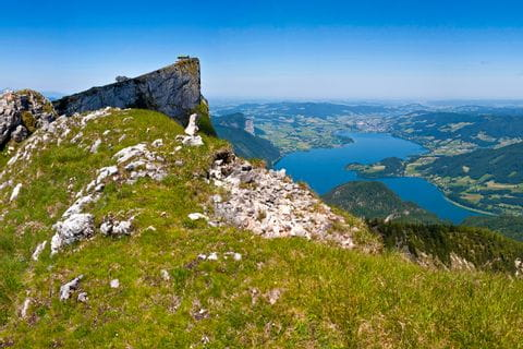 View on mountain Schafberg
